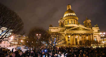 Meeting against transfer of Saint Isaac's Cathedral to the Russian Orthodox Church