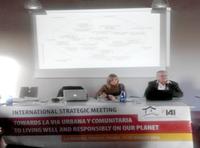 Pierre Calame en el Encuentro Hacia la Vía Urbana y Comunitaria para habitar bien y responsablemente nuestro planeta(La Bergerie, Chaussy, Francia, 11-15 de enero 2016)