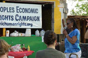 Viola Washington, New Orleans Welfare Rights Organization, lost everything in Katrina